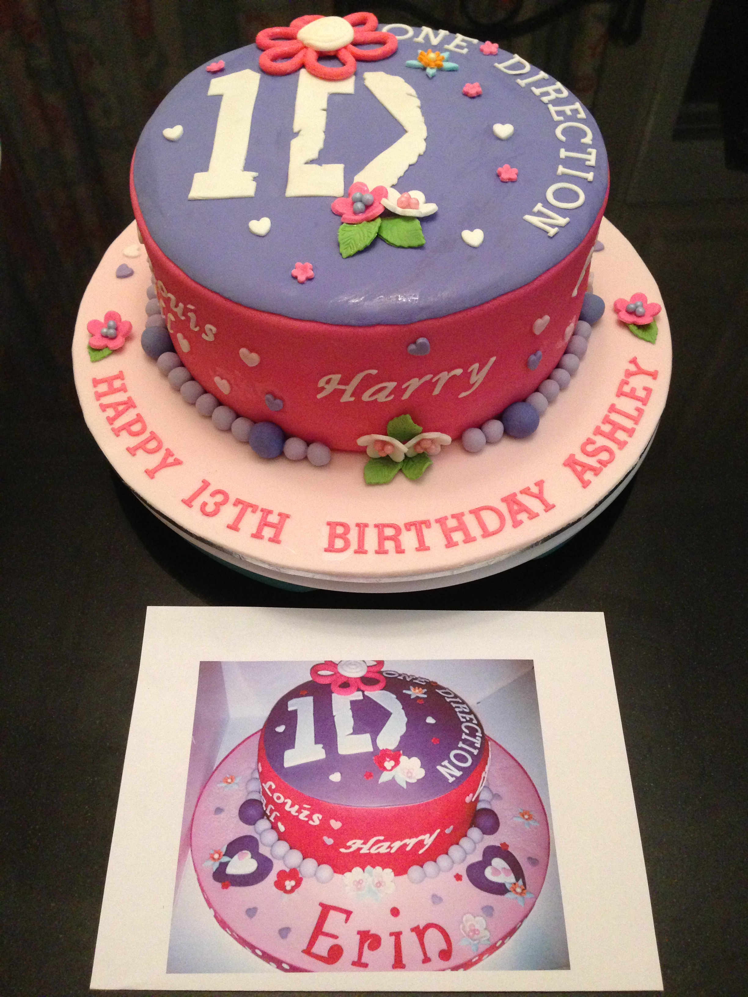 Sensational One Direction Cake Funny Birthday Cards Online Elaedamsfinfo